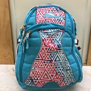 High Sierra Blue/Pink  backpack multiple pockets